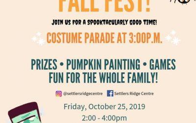 Settlers Ridge Centre Fall Fest!