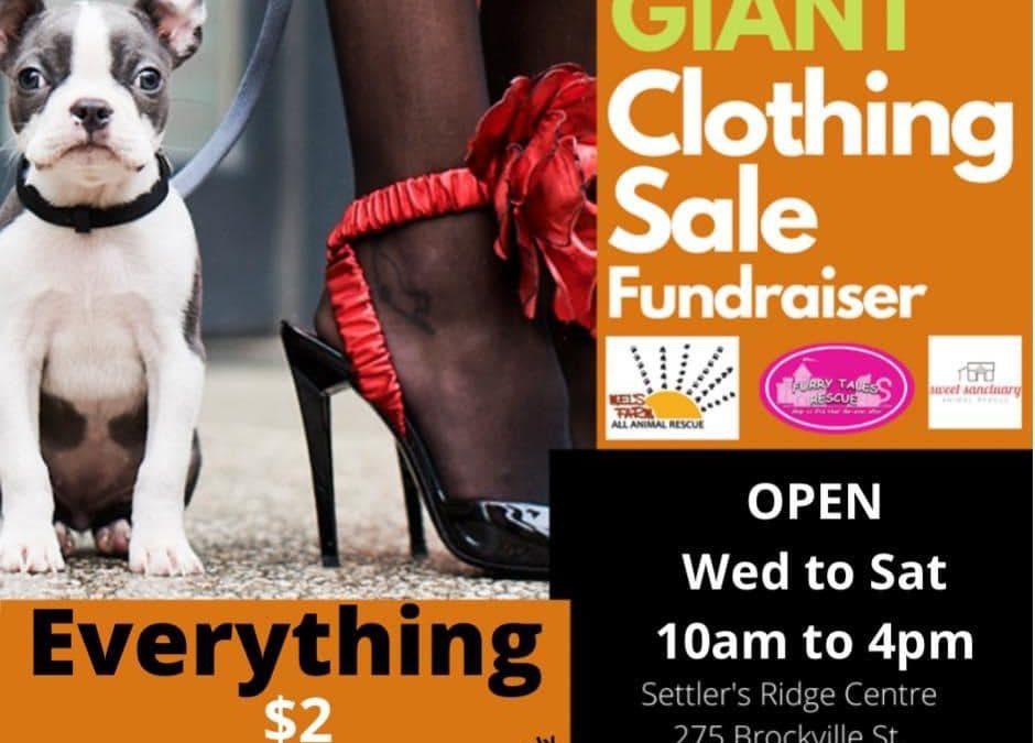 Giant Clothing Sale Fundraiser
